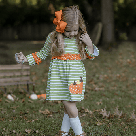 Pumpkin Pickin' Dress - Orange Poppy Boutique