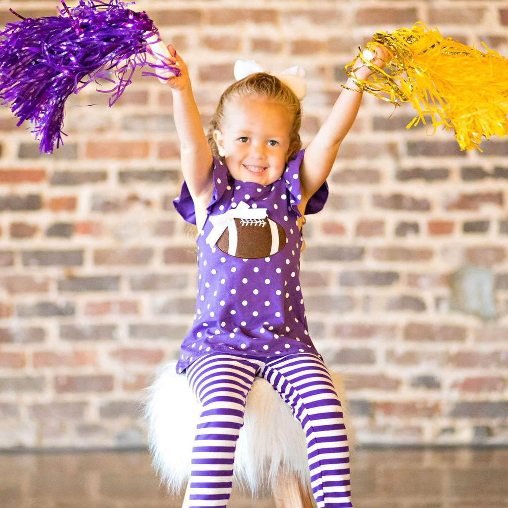 girls purple football outfit