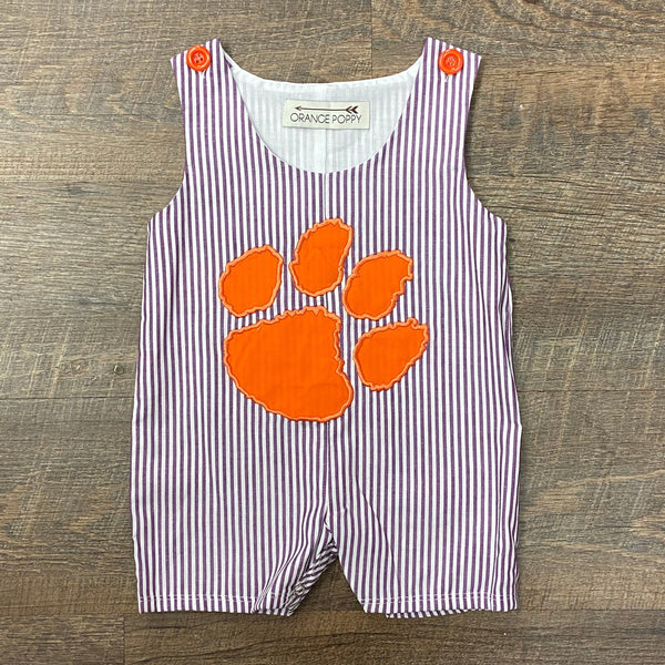 Team Spirit Romper - Purple & Orange Tiger
