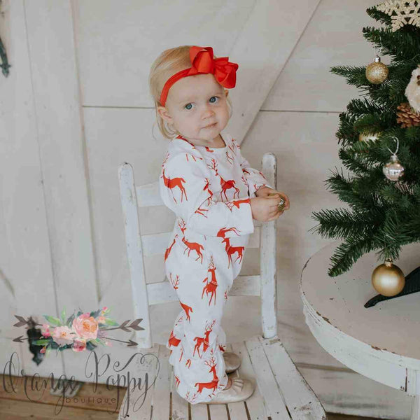 White Christmas Romper - Orange Poppy Boutique