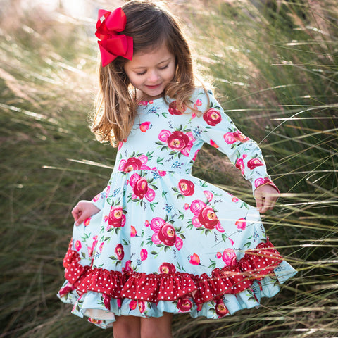Scarlet Blooms Dress