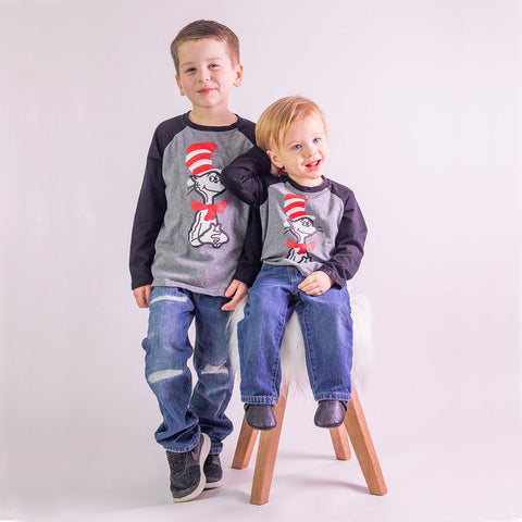 Seuss Celebration Raglan - Orange Poppy Boutique