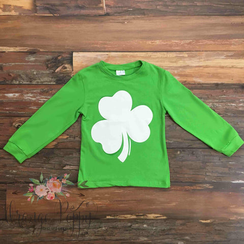 Green Shamrock Tee - Orange Poppy Boutique