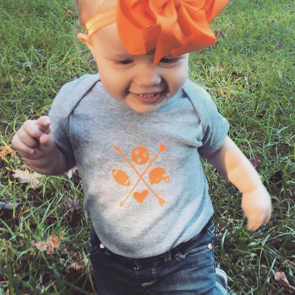 Infant TN Arrow Onesie - Orange Poppy Boutique