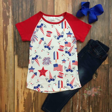 Star Spangled Unicorn Shirt - Orange Poppy Boutique