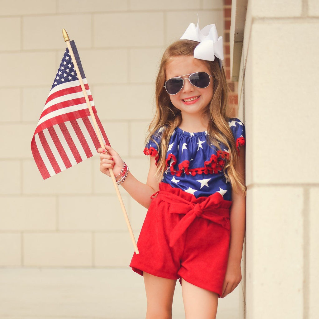 girls 4th of July outfit | Orange Poppy Children's Boutique