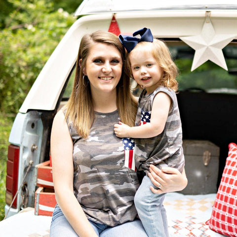 mommy & me 4th of July shirts