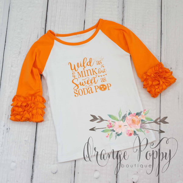 Sweet as Soda Pop Ruffle Raglan Tee - Orange Poppy Boutique