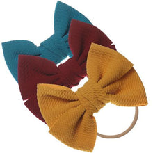 Load image into Gallery viewer, 3-Piece Nylon Bow Set - 5 Color Options!
