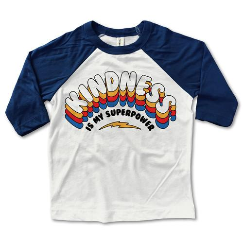 Kindness is My Superpower Baseball Tee