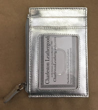 flat zip card case