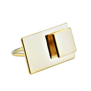 Geometric Contemporary Ring - The Blue Attic