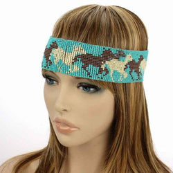 Western Horse Turquoise Headband - The Blue Attic