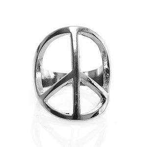 Metal Peace Sign Ring - The Blue Attic