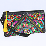 Embroidered Floral Wristlet - The Blue Attic