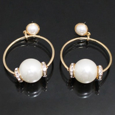 Pearl Hoop Fashion Earrings - The Blue Attic