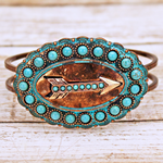Cuff Arrow Stone Bracelet - The Blue Attic