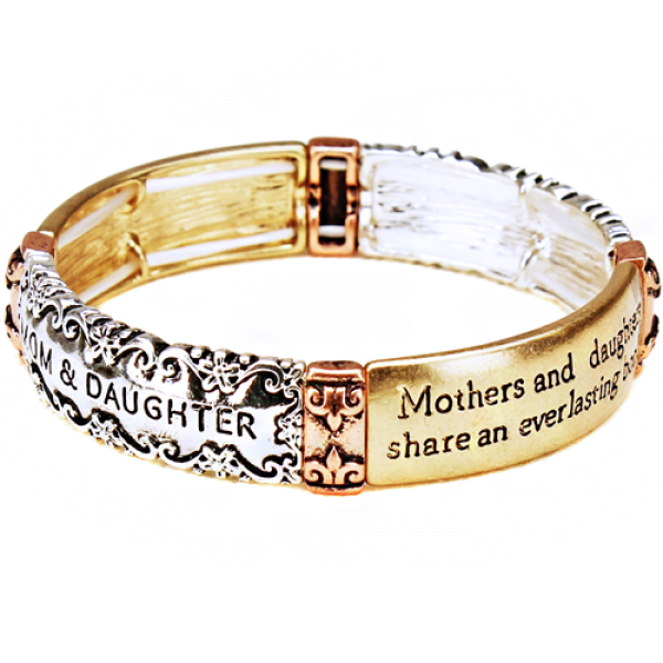 Mothers And Daughters Stretch Bracelet - The Blue Attic