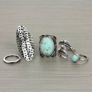 Boho 5 peice Ring Set - The Blue Attic