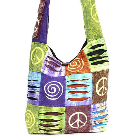 Peace Sign Swirl Handbag - The Blue Attic
