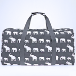 Grey Boho Elephant Duffle Bag - The Blue Attic