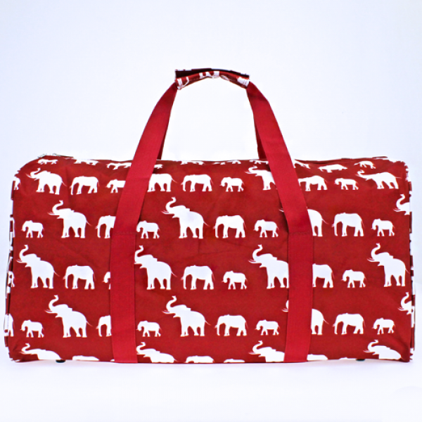 Red Boho Elephant Duffle Bag - The Blue Attic