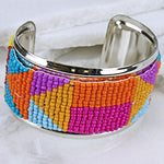 Aztec Multi Color Bangle Bracelet - The Blue Attic