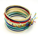Bohemian Fashion Multi Bangle Bracelet - The Blue Attic