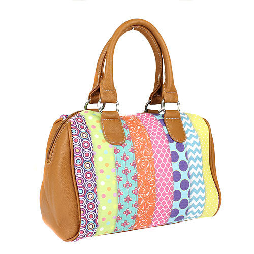 Boho Multi Print Duffle Purse - The Blue Attic