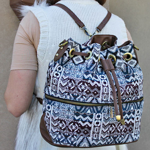 Boho Tribal Backpack - The Blue Attic