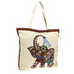 Elephant Boho Tote Bag - The Blue Attic