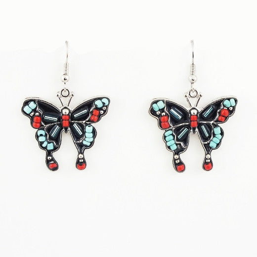 Butterfly Design Fishhook Earrings - The Blue Attic