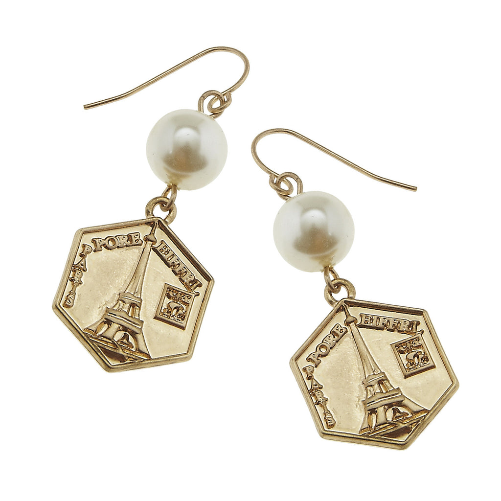 Eiffel Tower Charm Earrings - The Blue Attic
