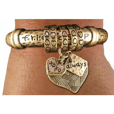 """Friendship and Happiness"" Charm Bracelet - The Blue Attic"