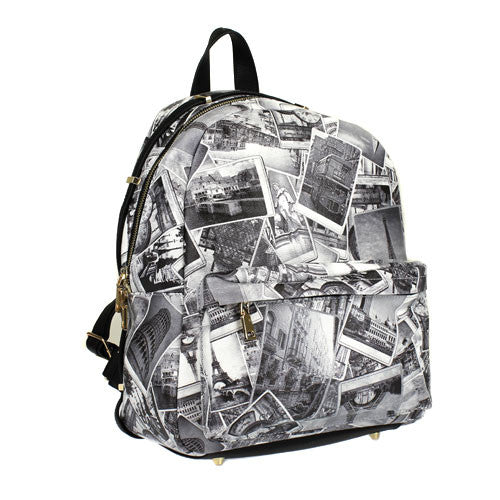 Greece Print Backpack - The Blue Attic