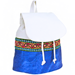 Geo Tribal Leather Like Backpack - The Blue Attic