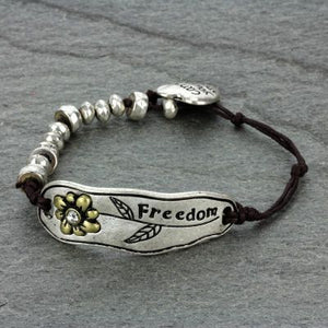 """Freedom"" Fashion String Bracelet - The Blue Attic"