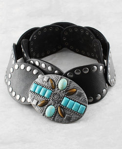 Turquoise Western Buckle - The Blue Attic