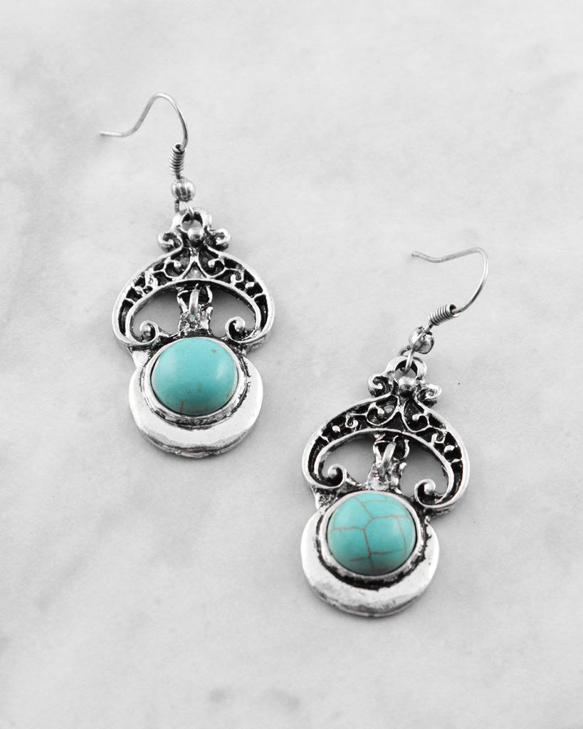 Antique Gemstone Earrings - The Blue Attic