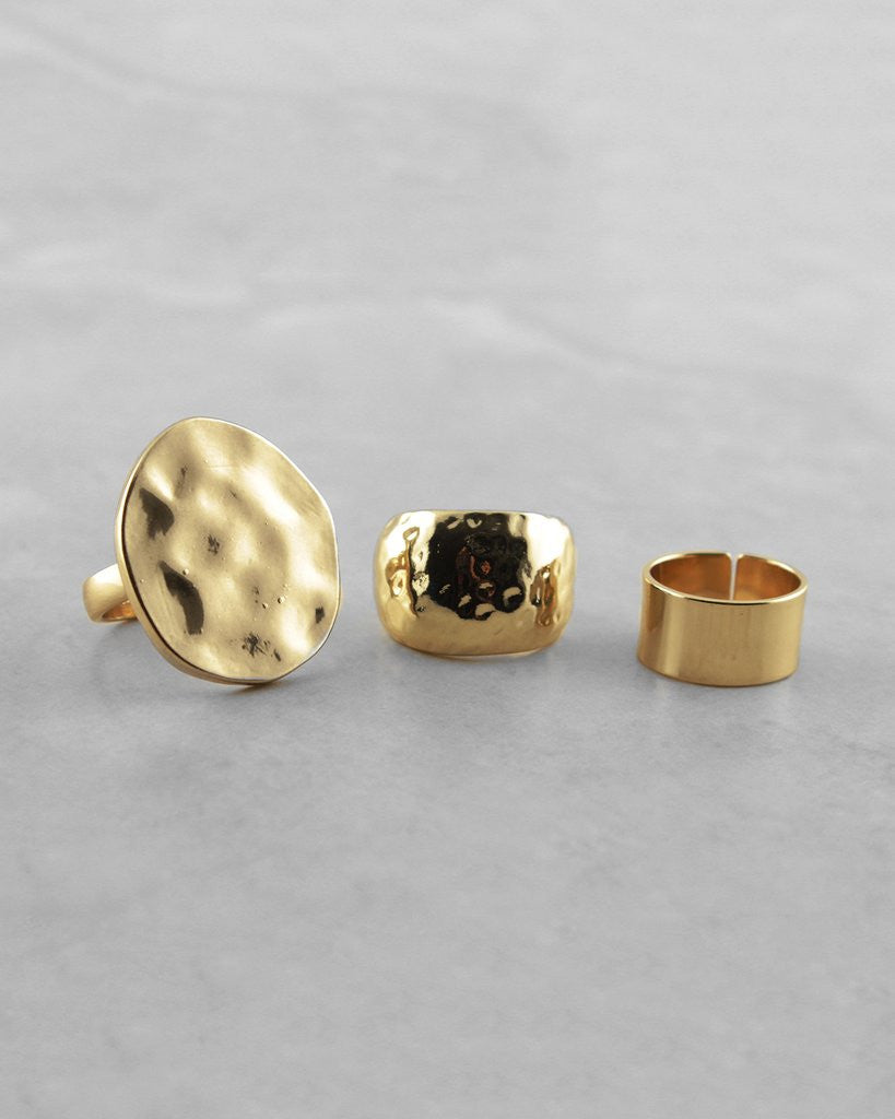 Polished Mix and Match Ring Set - The Blue Attic