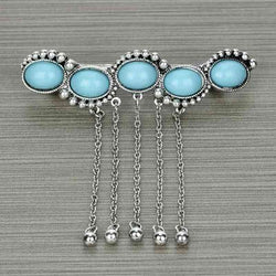 Turquoise Dangle Hair Pin - The Blue Attic