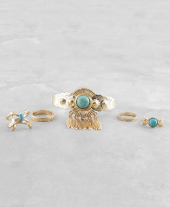 Antique Finish Cuff and Ring Set - The Blue Attic