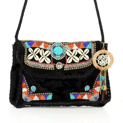 Aztec Faux Leather Handbag - The Blue Attic