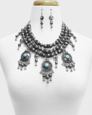 Chunky Bohemian Necklace Set - The Blue Attic