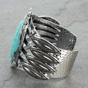 Fashion Turquoise Cuff Bracelet - The Blue Attic