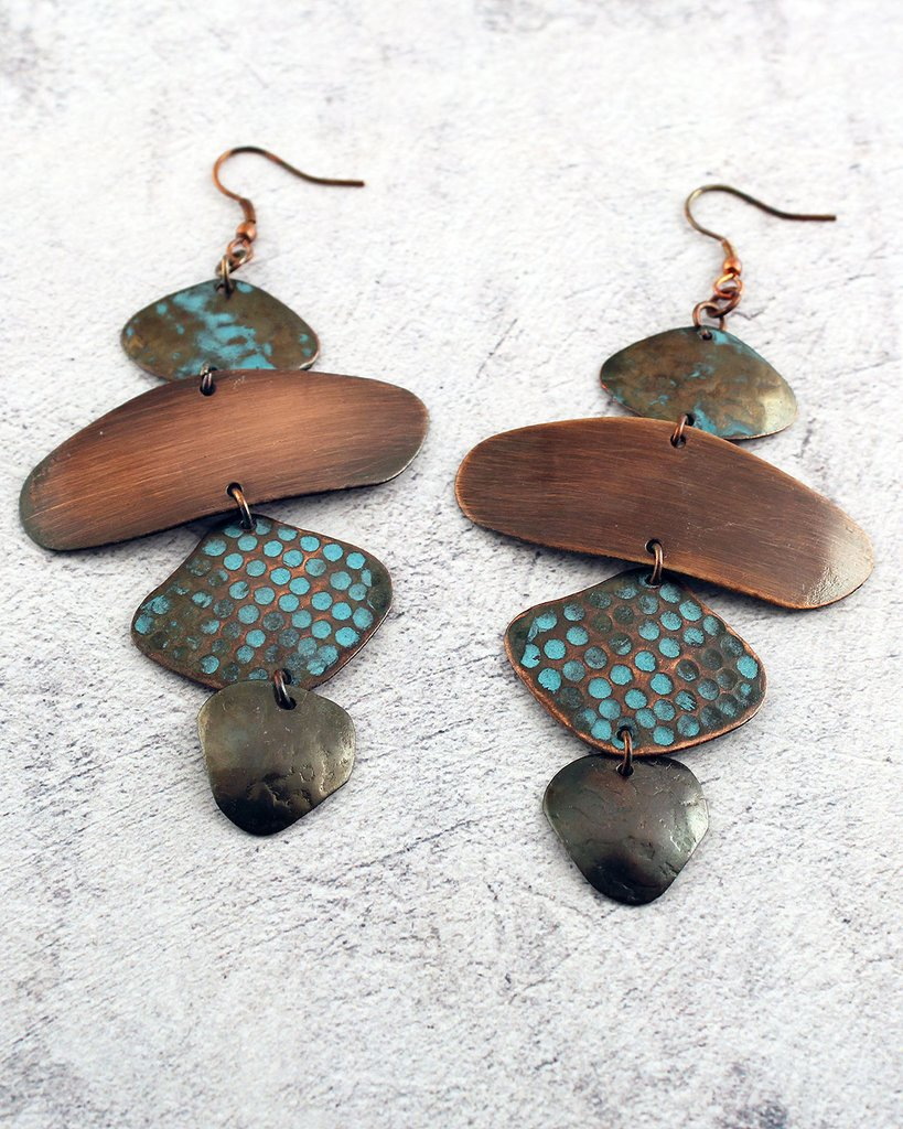 Multi Shaped Vintage Earrings - The Blue Attic
