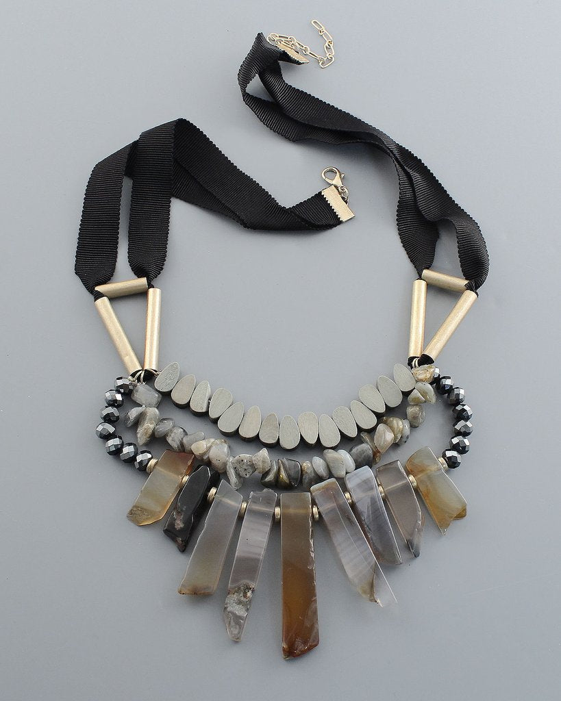 Agate Collar Necklace - The Blue Attic
