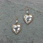 """I Love Mom"" Heart Shape Earrings - The Blue Attic"