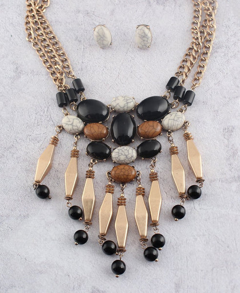 Tribal Bead Necklace Set