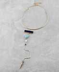 Geometric Lariat Choker Necklace - The Blue Attic